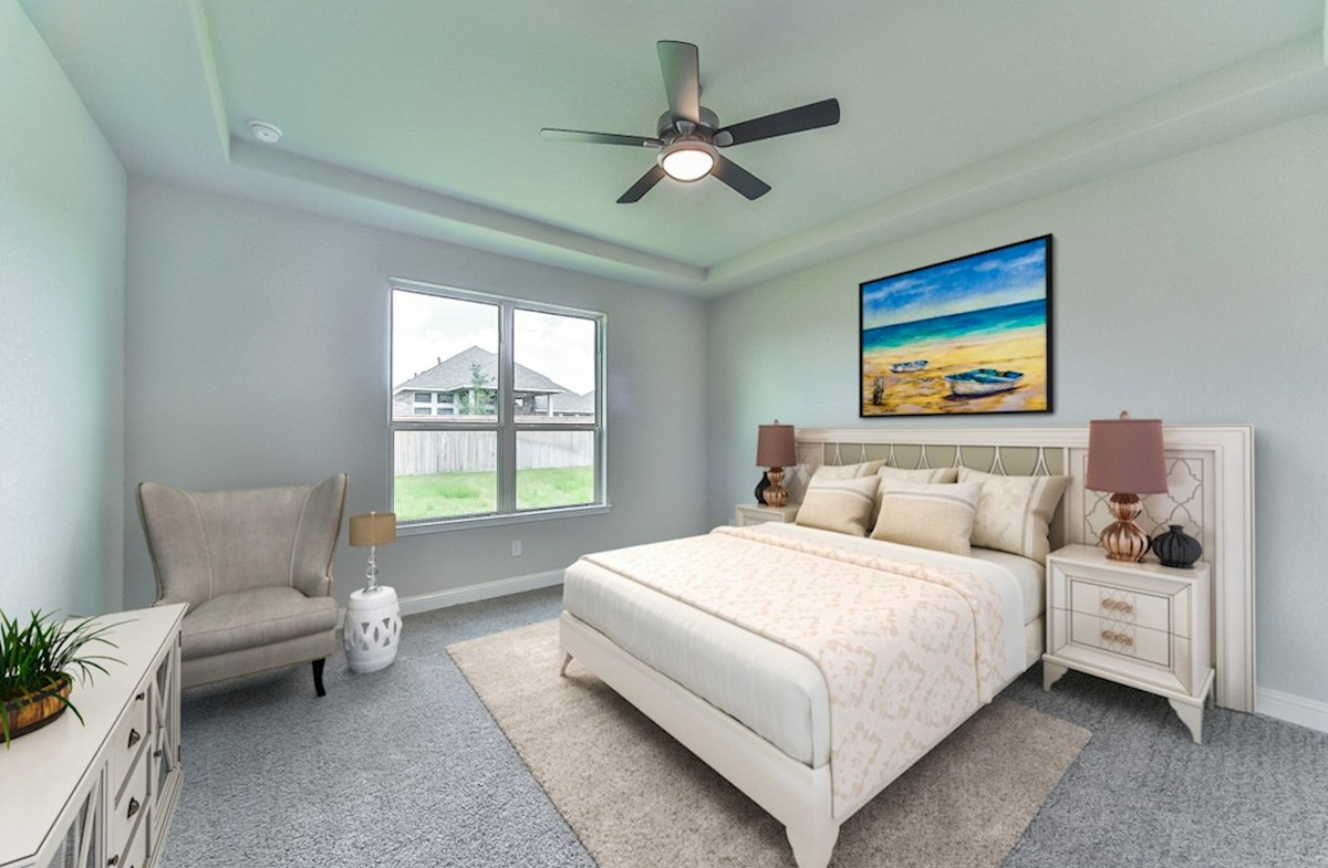 Armstrong quick move-in master bedroom with ceiling fan