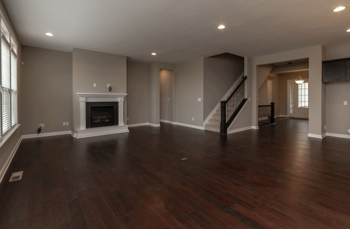Windsor quick move-in open great room with fireplace