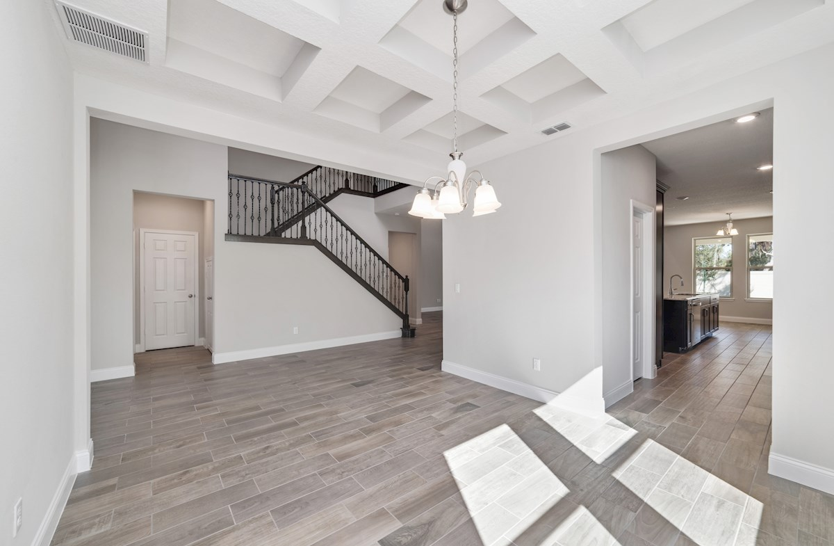 Washington quick move-in coffered ceilings