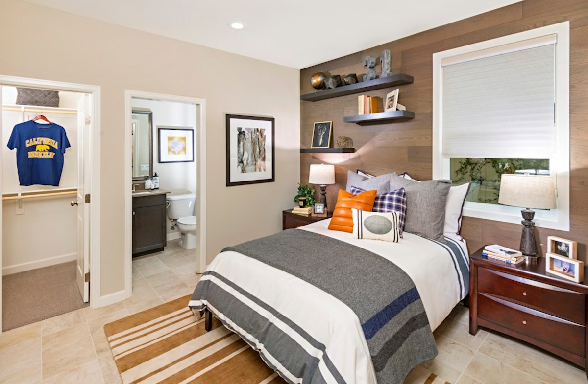 Aurora Heights Torrey Bedroom on the main floor has easy access to the kitchen and living areas