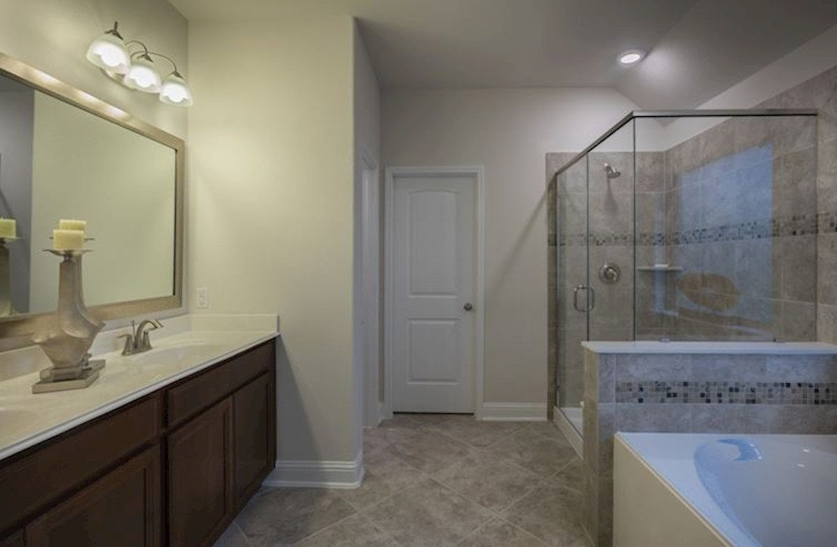 Bridgeland: Parkland Village Madison spa-like master bathroom