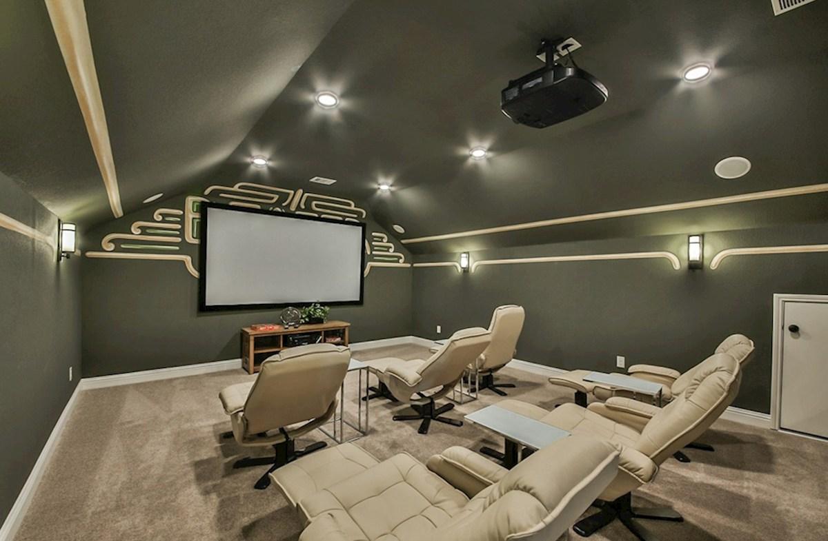 Galveston quick move-in Galveston media room with surround sound