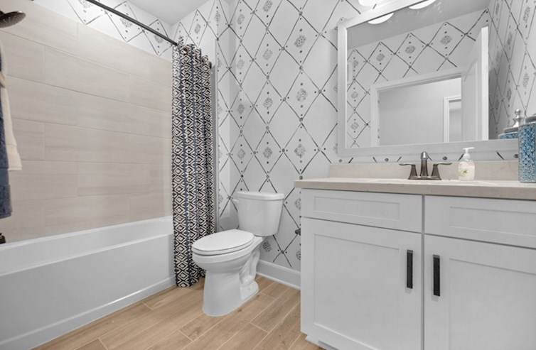 Clifton guest bathroom with vanity and shower