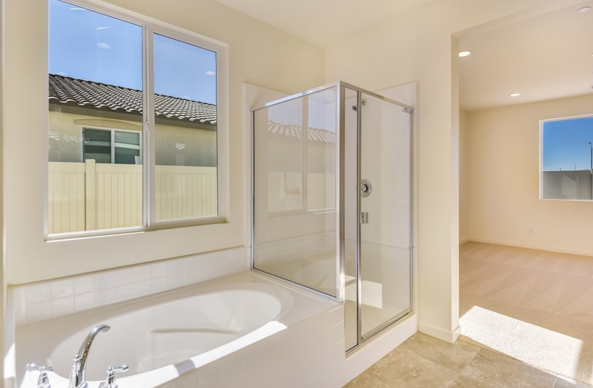 Poppy quick move-in Master bathroom with multipule windows to maximize natural light exposure