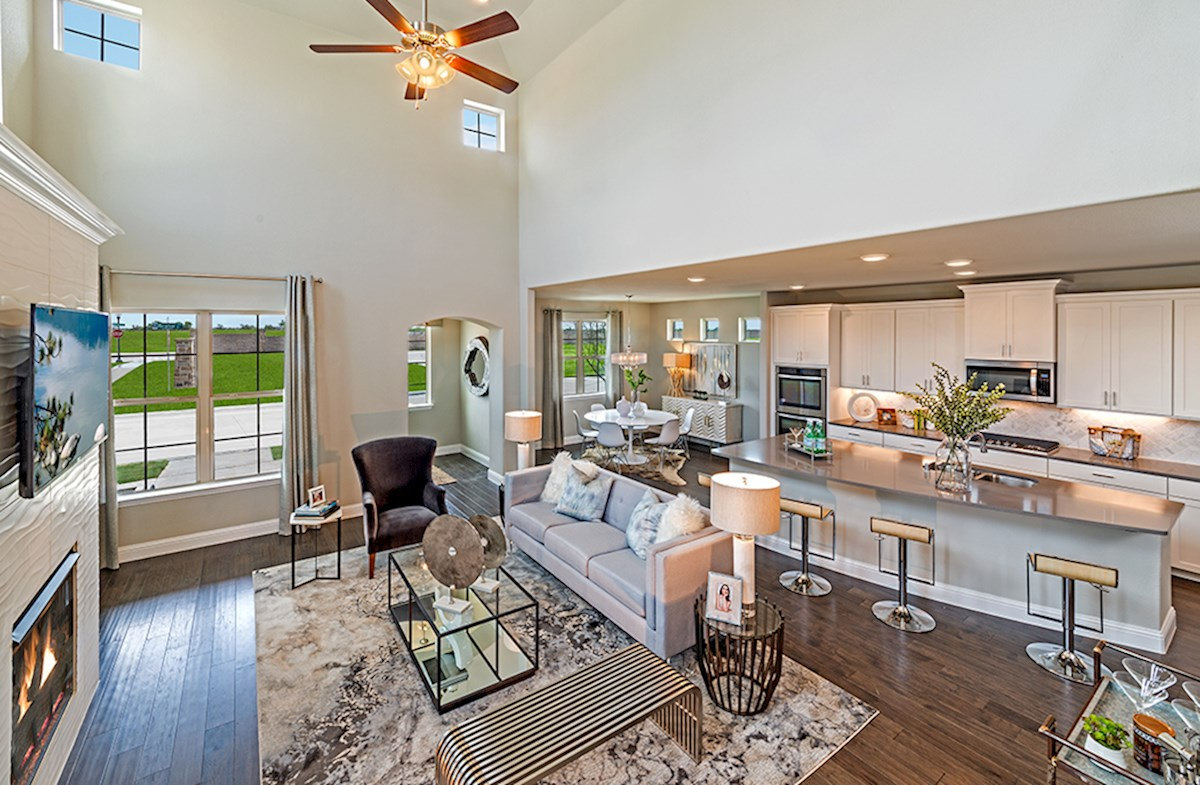Brazos open great room and kitchen