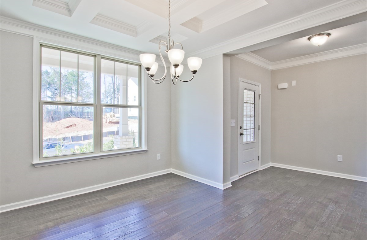 Dogwood II quick move-in Dining Room with coffered ceiling