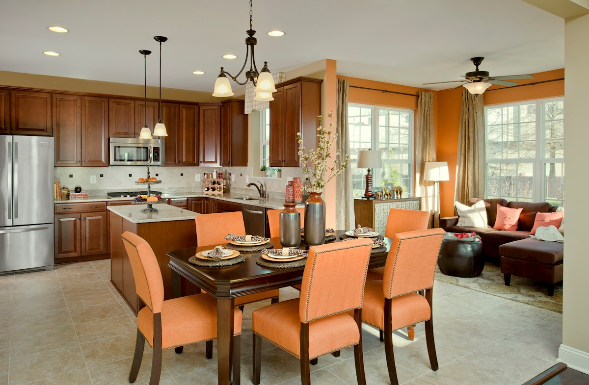 The Preserve at Windlass Run - Single Family Homes Oxford kitchen with breakfast area