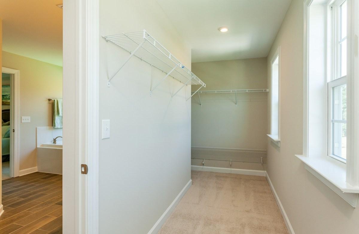 Hamilton master bedroom closet