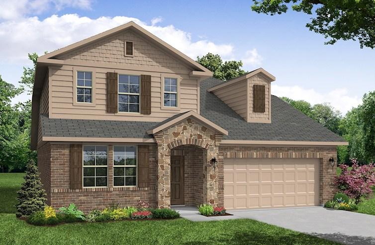 Cascade brick and stone exterior