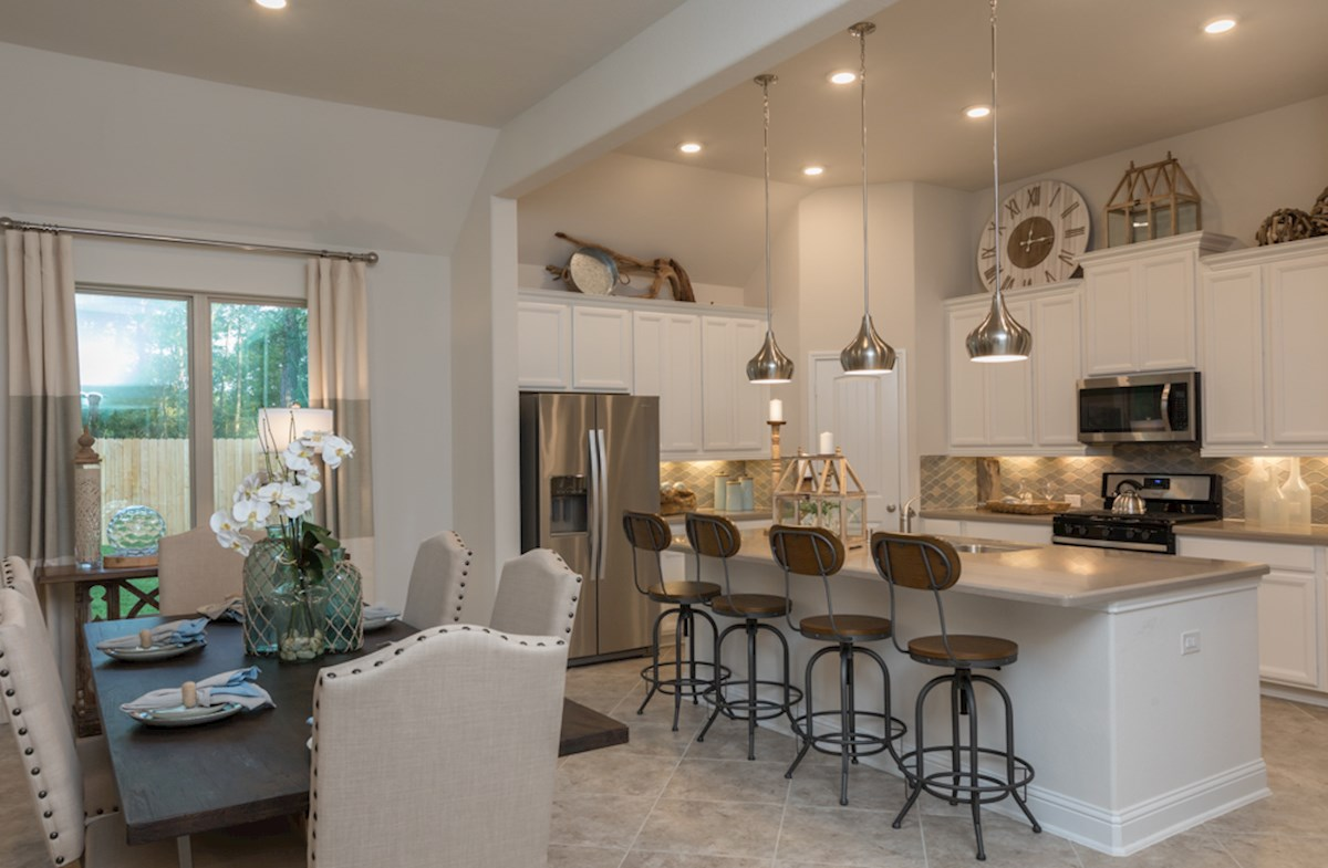 Open kitchen concept in the Madison plan