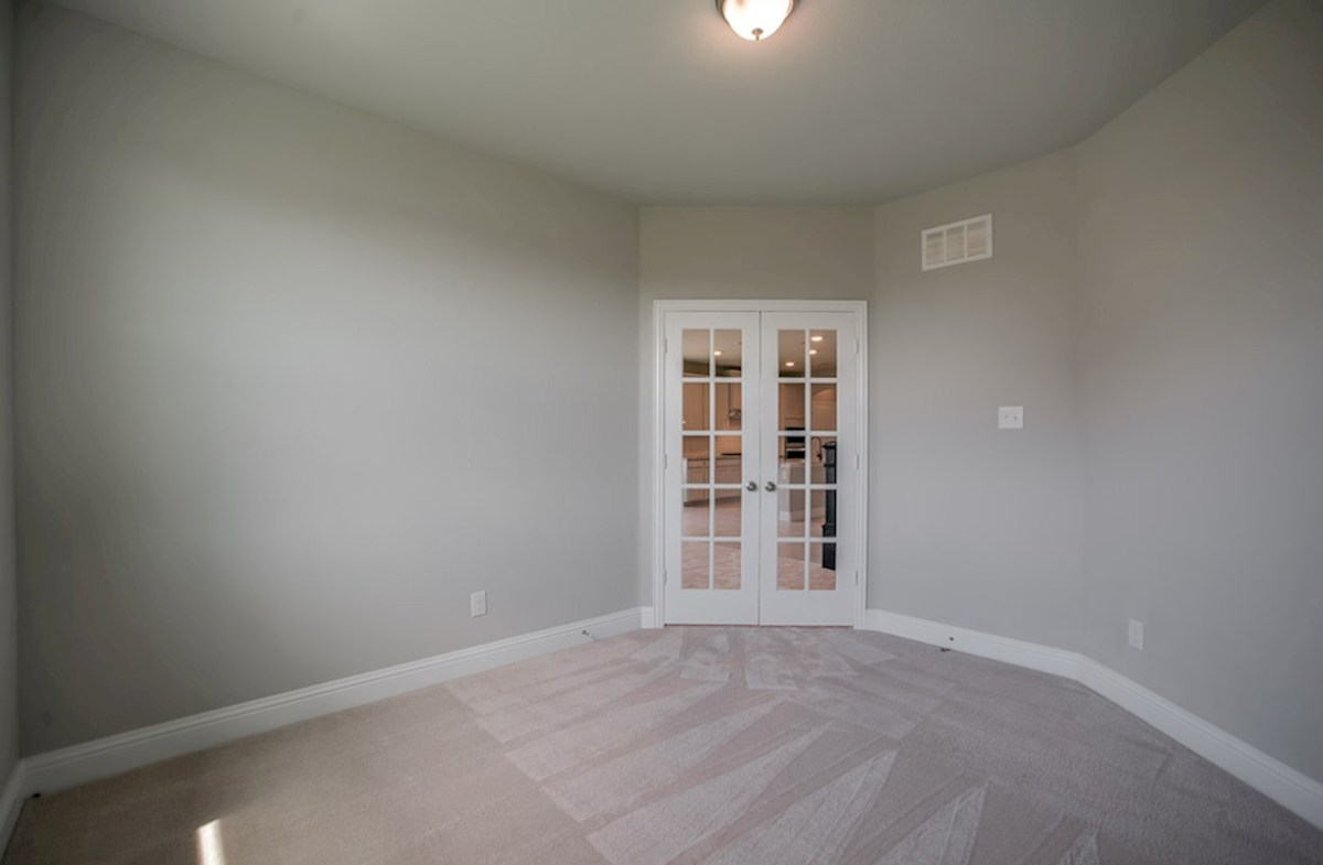 Prescott quick move-in study with French doors and carpet