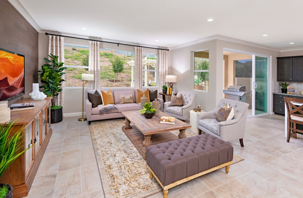 Aurora Heights Torrey A spacious great room is the perfect space for family bonding