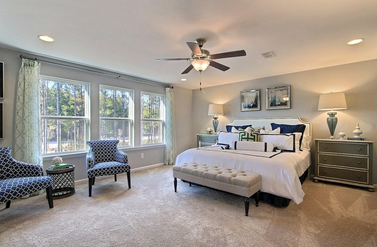 The Oaks at Cane Bay Harding inviting master bedroom