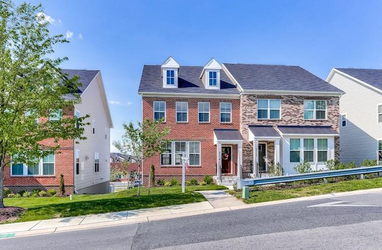 Homesite 104 Ellicott exterior in brick