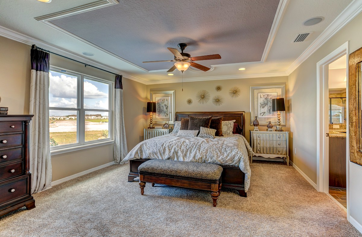 The Reserve at Pradera Captiva Master bedroom with large window for natural light