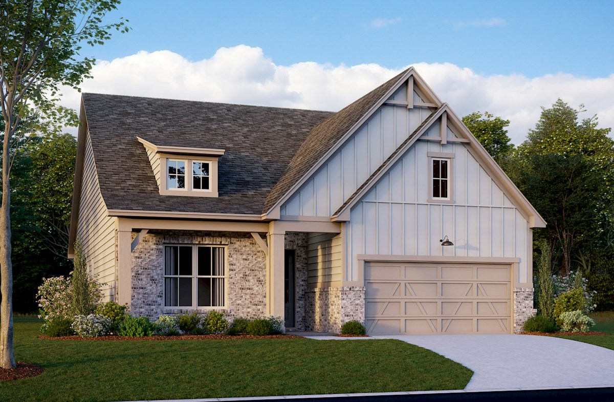 Ranch home with two-car garage