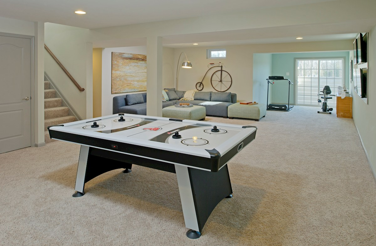 Enclave at River Hill Pembrooke Host game night in a spacious basement