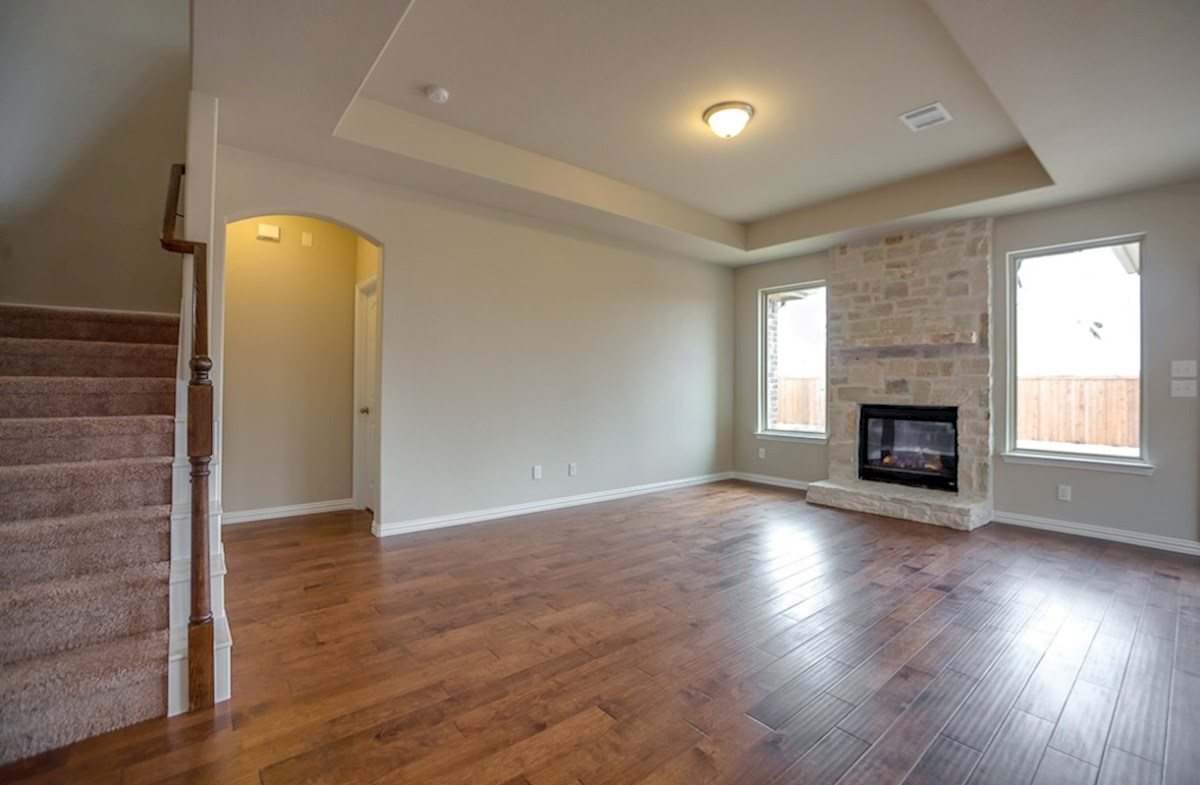 Avalon quick move-in stone fireplace in great room