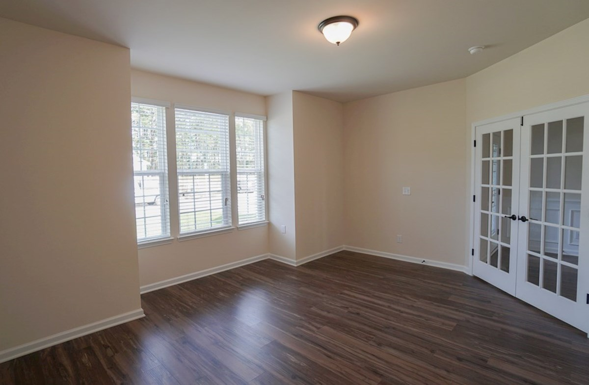 Valleydale quick move-in second living room features French doors and hardwoods