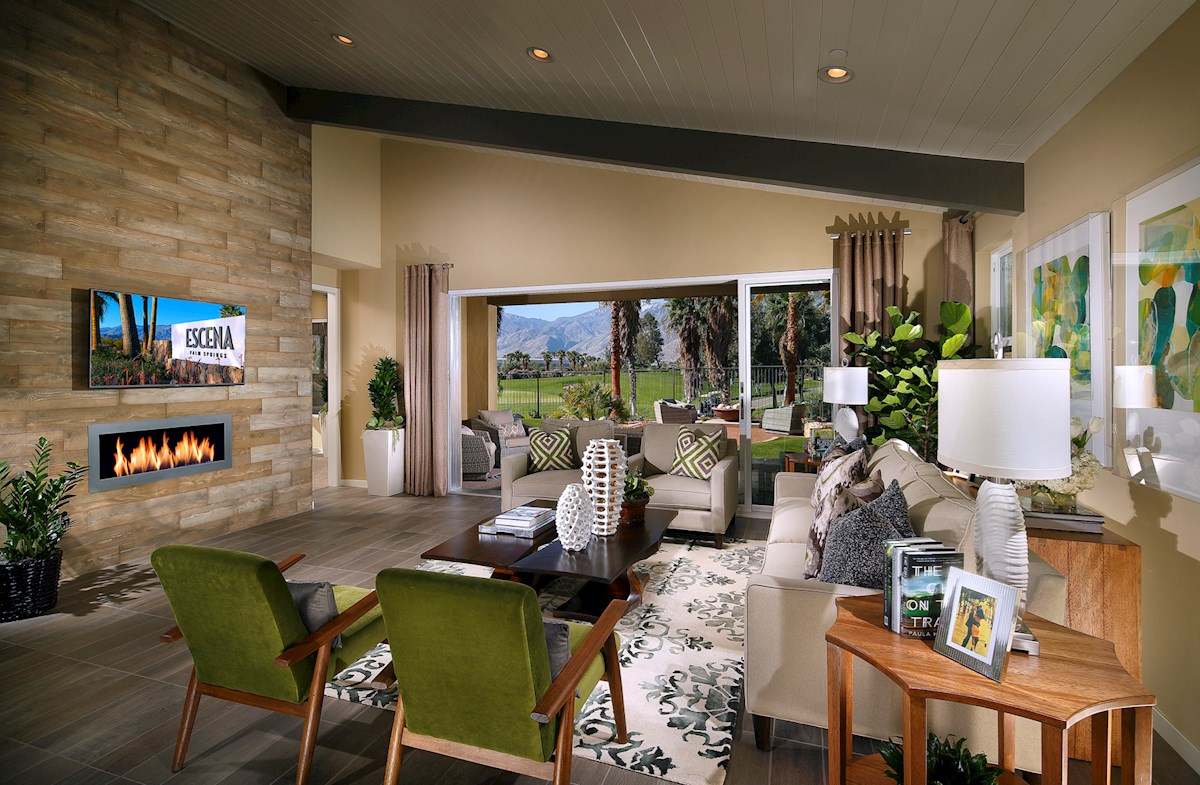 Plan 2 dramatic vaulted ceilings great room