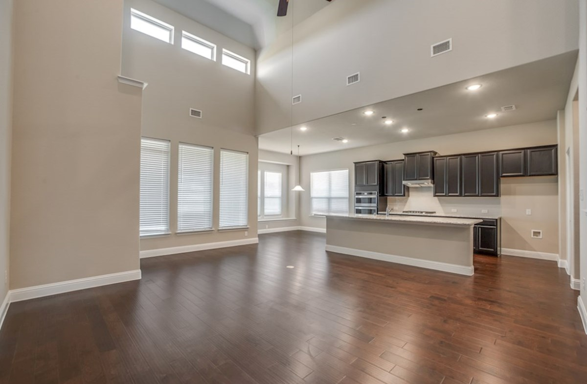Summerfield quick move-in Summerfield great room flows directly in to the kitchen