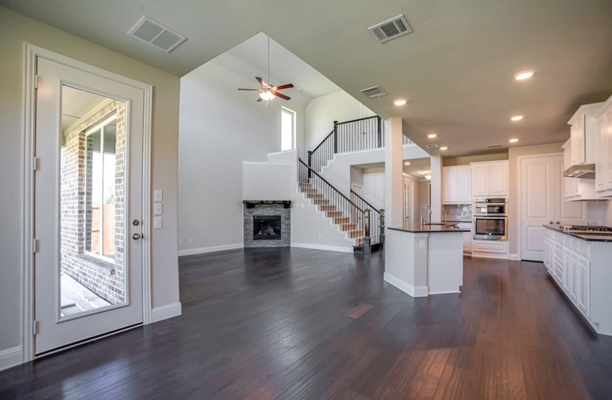 Brookhaven quick move-in open kitchen with white cabinets