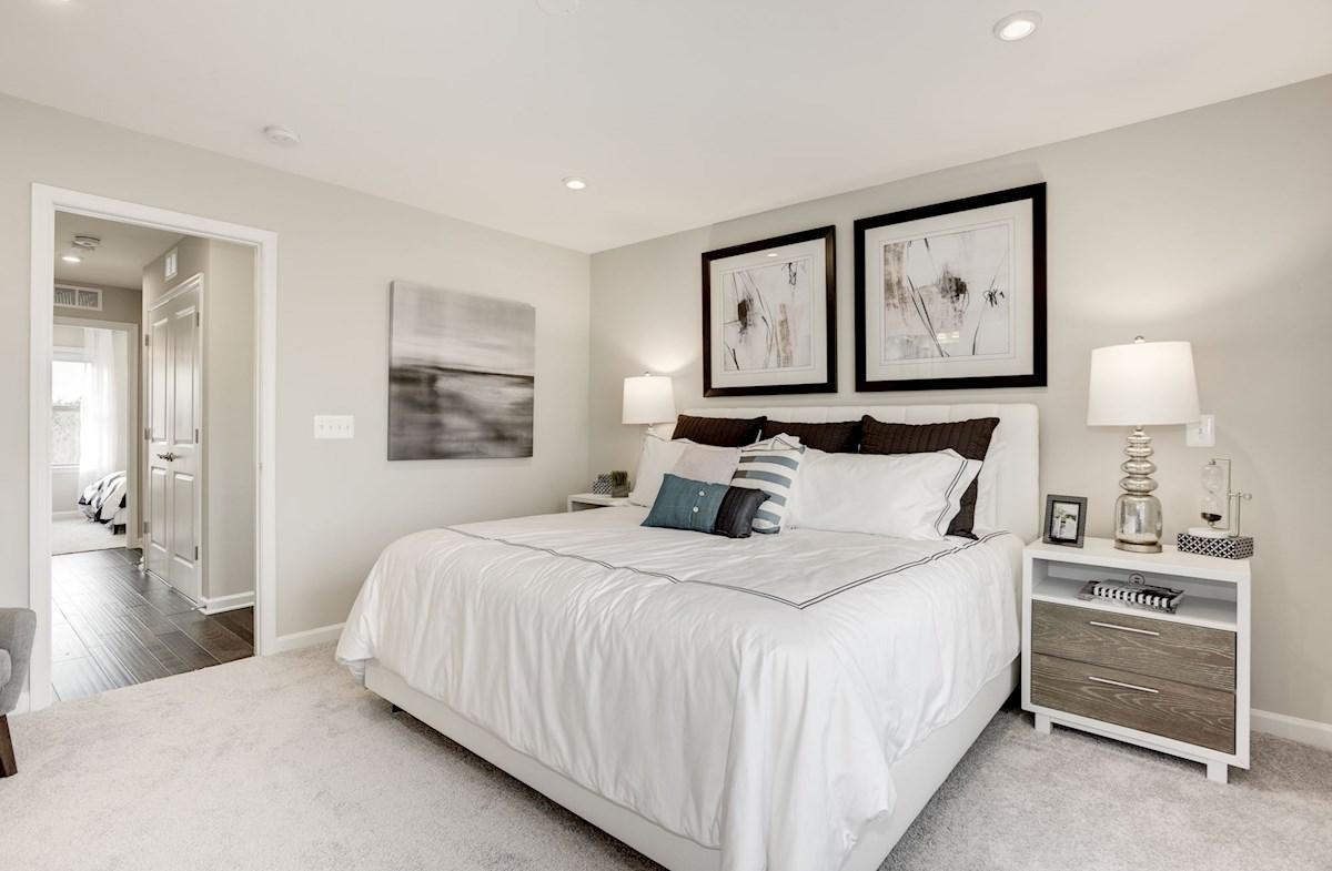 carpeted bedroom