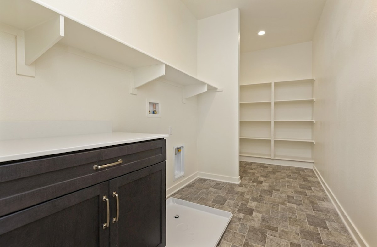 Reserve quick move-in Abundant storage in the convenient upstairs laundry room