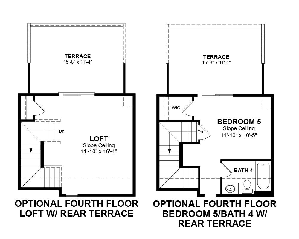 Optional 4th Floor floor plan