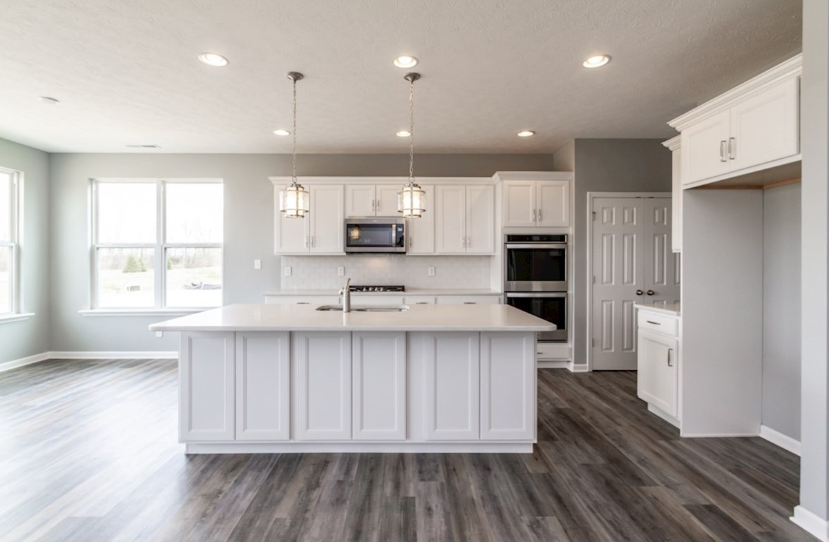 Greenwich quick move-in gourmet kitchen with white cabinets