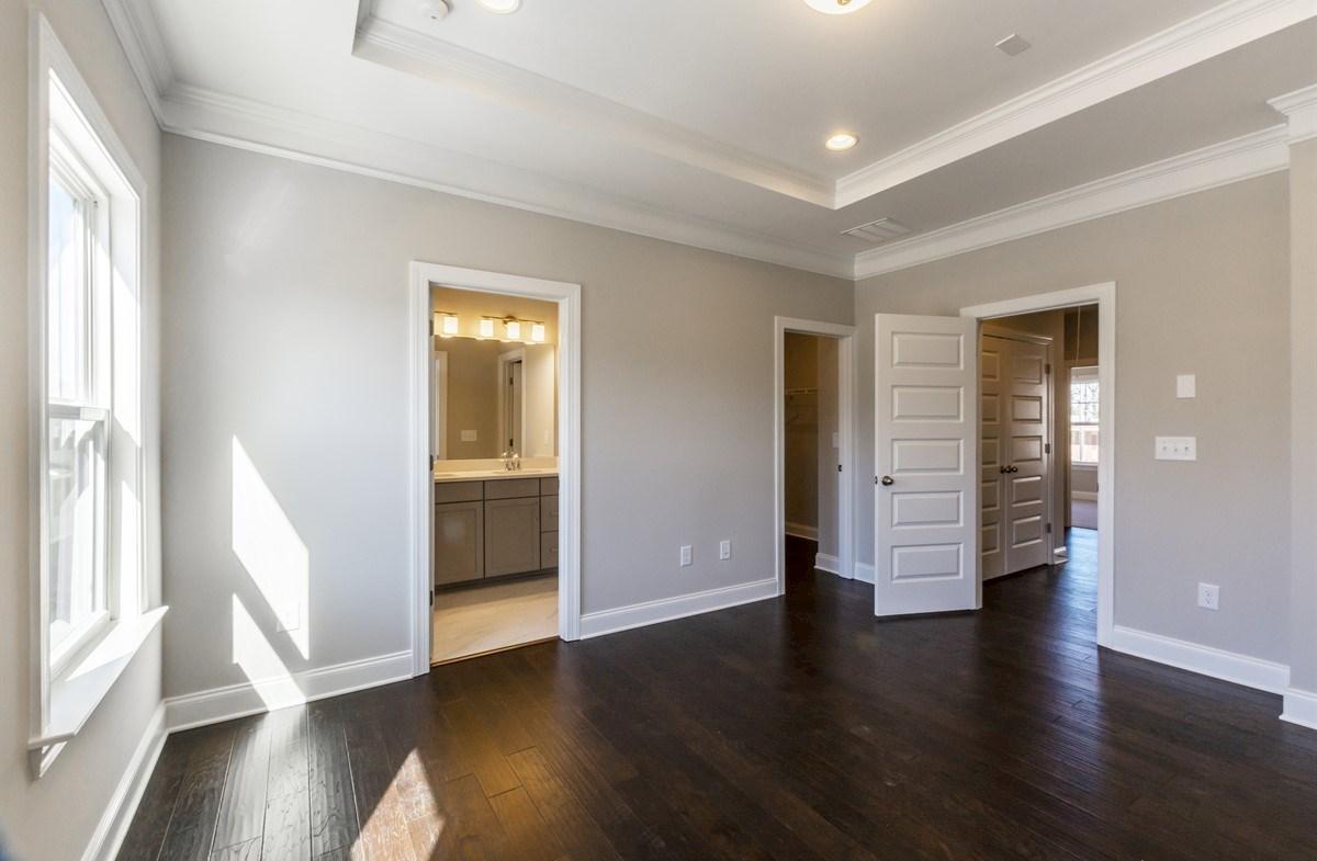 Morningside Towns Piedmont II Master Bedroom with hardwood floors