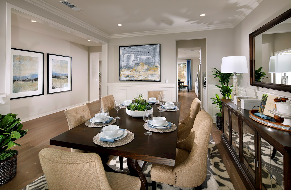 Dining room is perfect space for dinner parties
