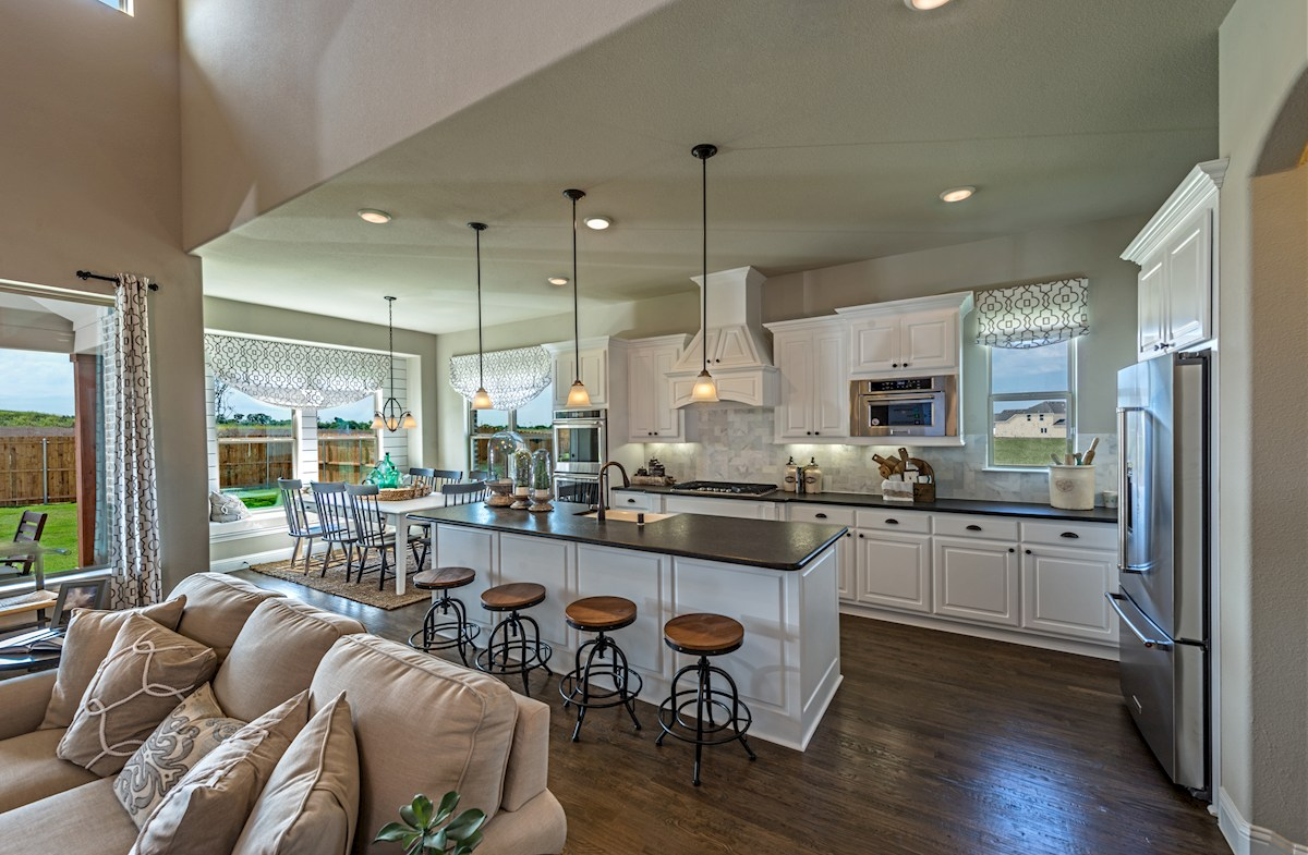 summerfield open kitchen with large island