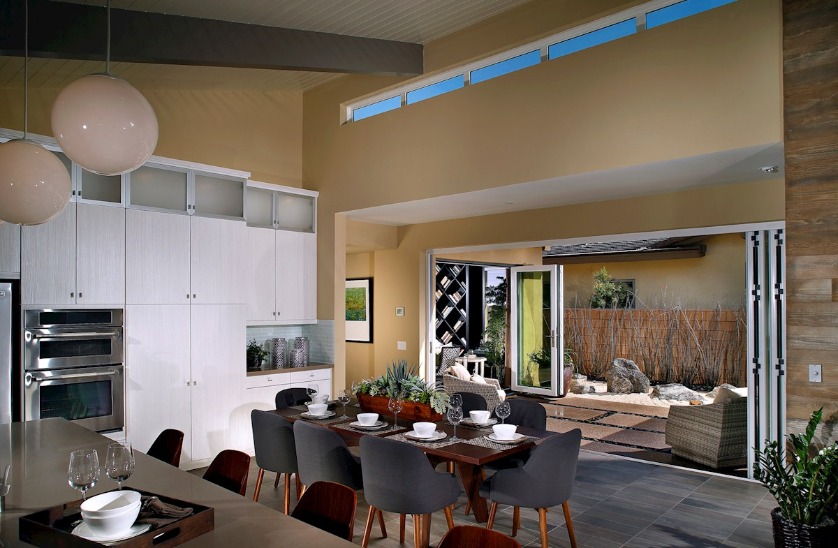 Vermillion at Escena Residence 2 dining area with covered patio