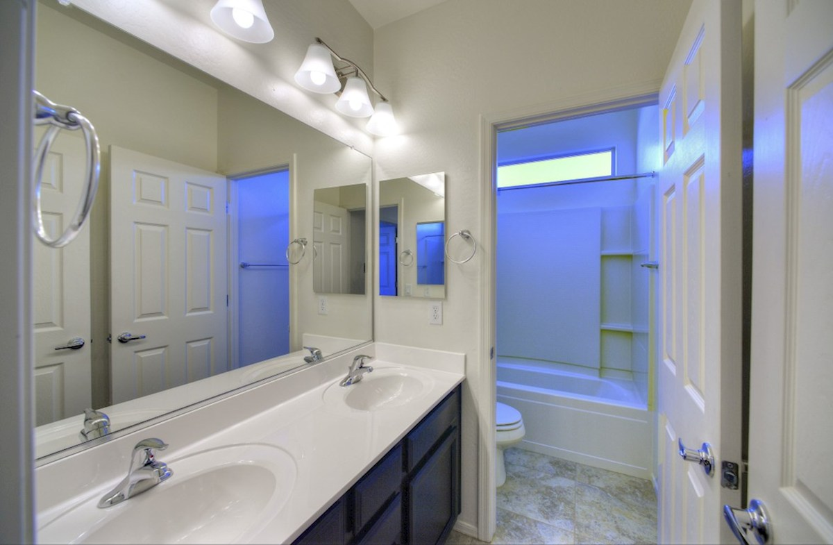 Rockwell quick move-in dual sinks