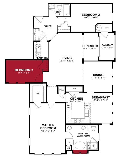 Gráfico del plan de piso