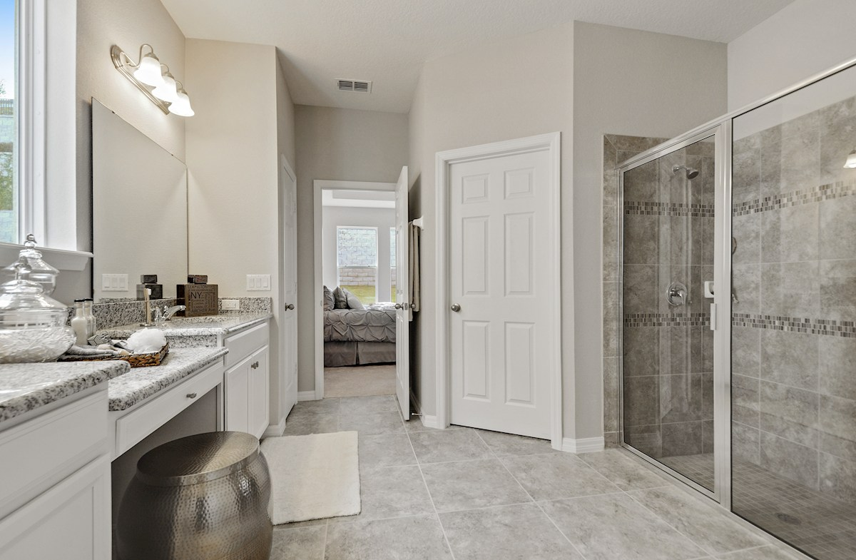 Harvest Landing Jessup III spa-inspired master bath
