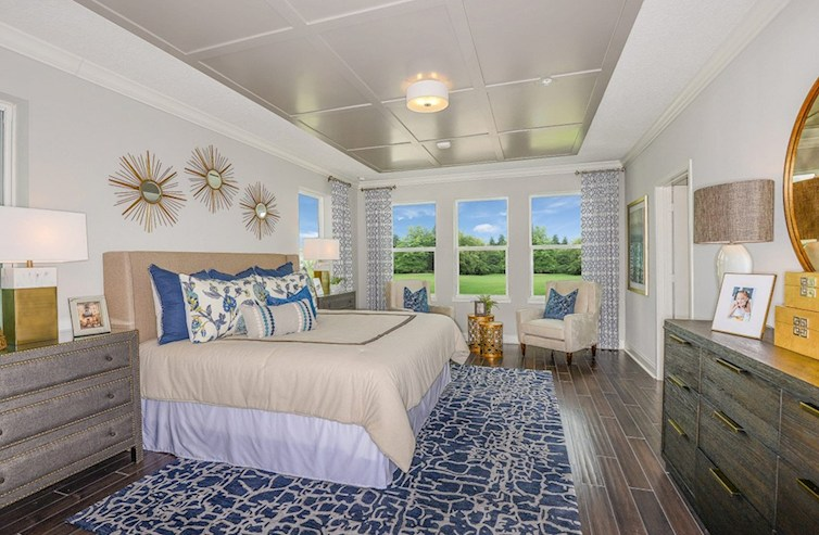 Gatherings® of Lake Nona Dogwood light-filled master bedroom