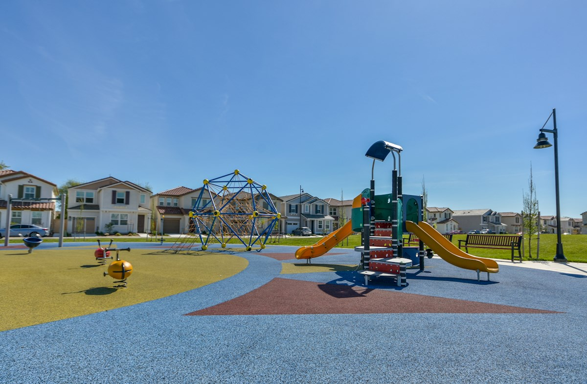 Cobblestone park located within the community