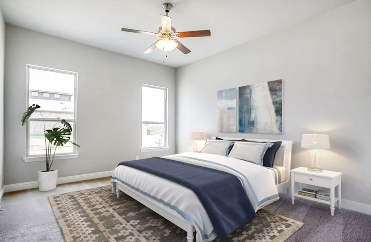 Glen View Ainsley Ainsley master bedroom with large windows