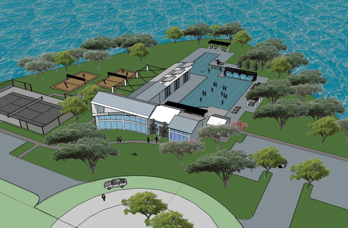 amenity center on Lake Lewisville