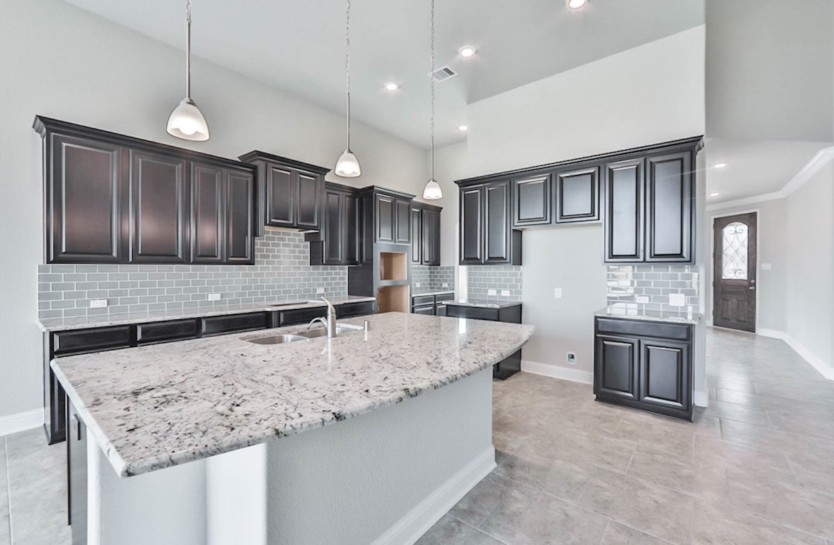 Harper quick move-in kitchen with granite and spacious cabinets
