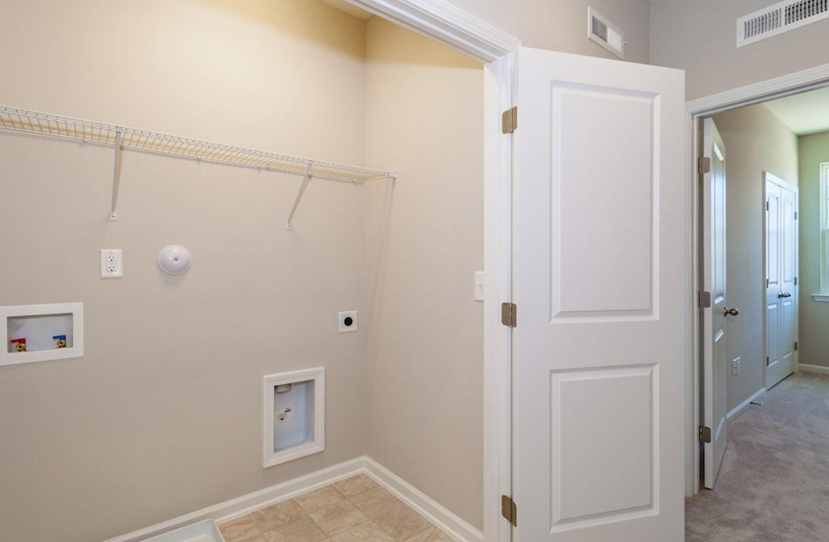 Peak 502 Olive upstairs laundry room
