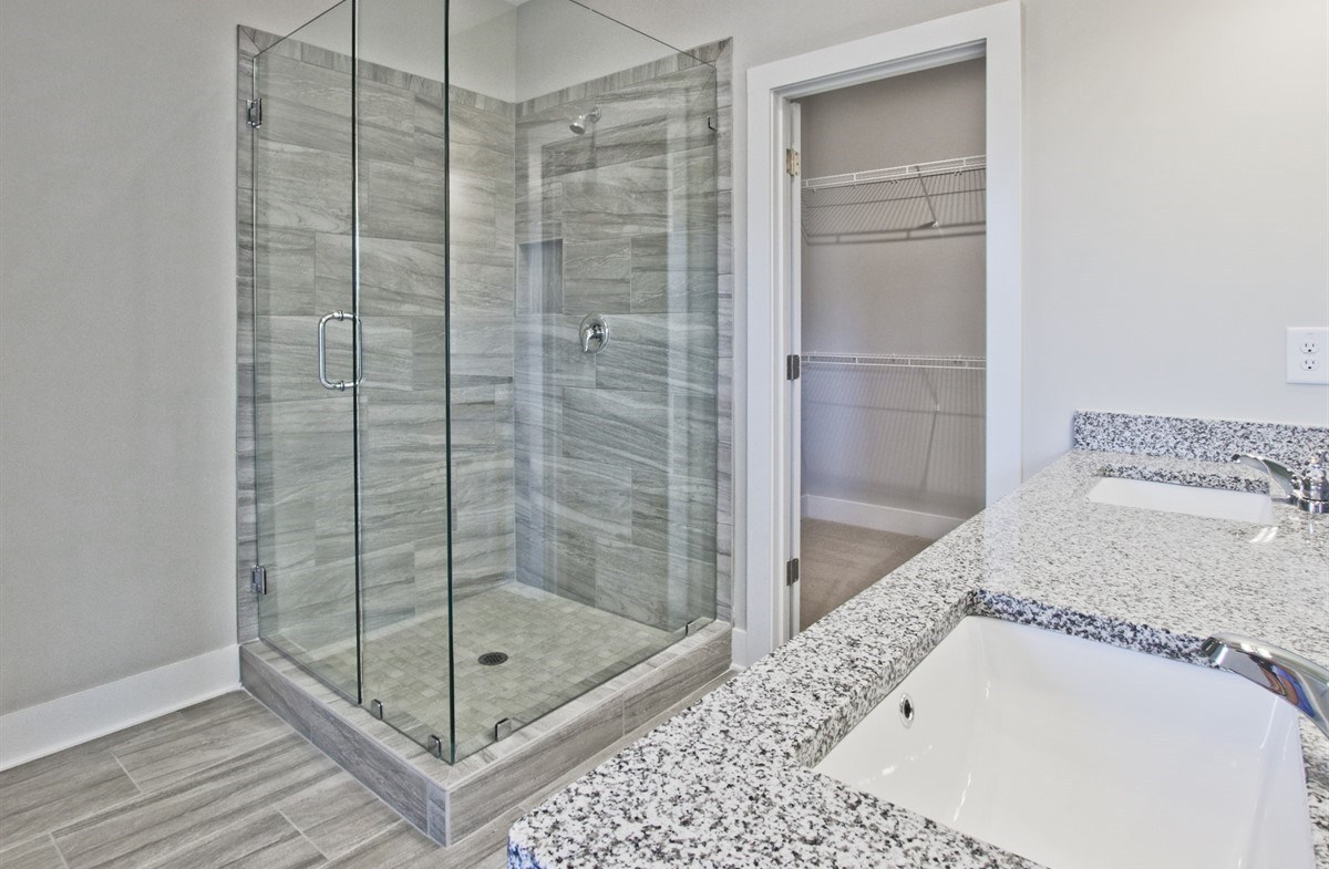 Towns at Old Mill Callahan II Master Bathroom with glass shower