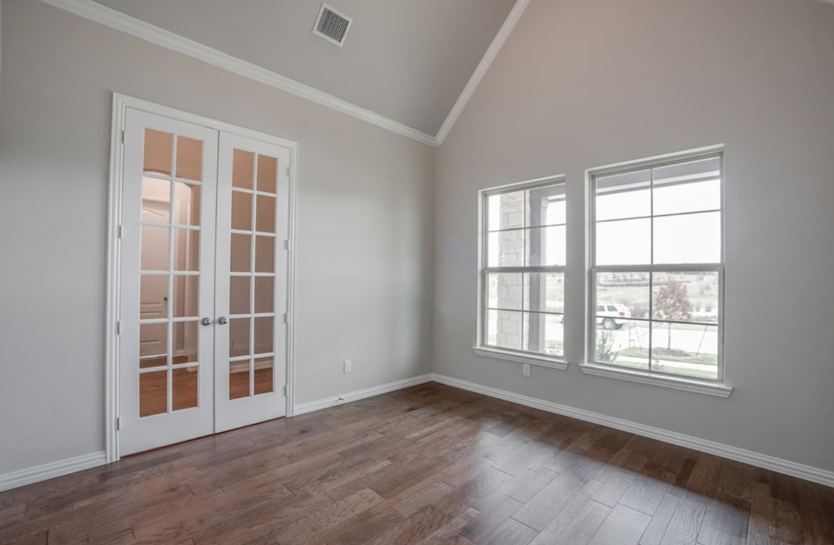 Brighton quick move-in study with French doors and wood floors