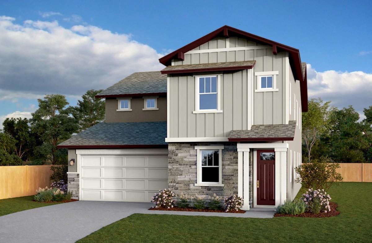 Residence 3 Elevation Arts & Crafts L