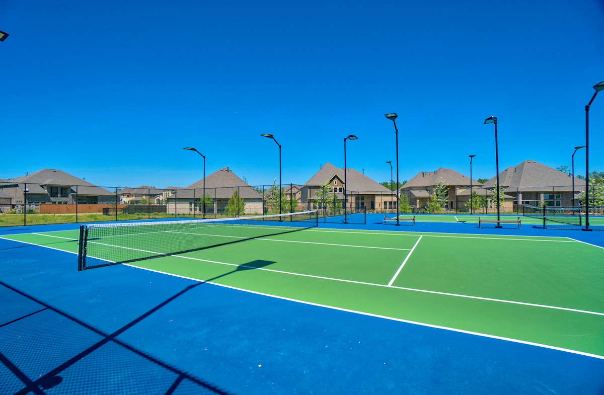 Upscale recreation center with tennis courts
