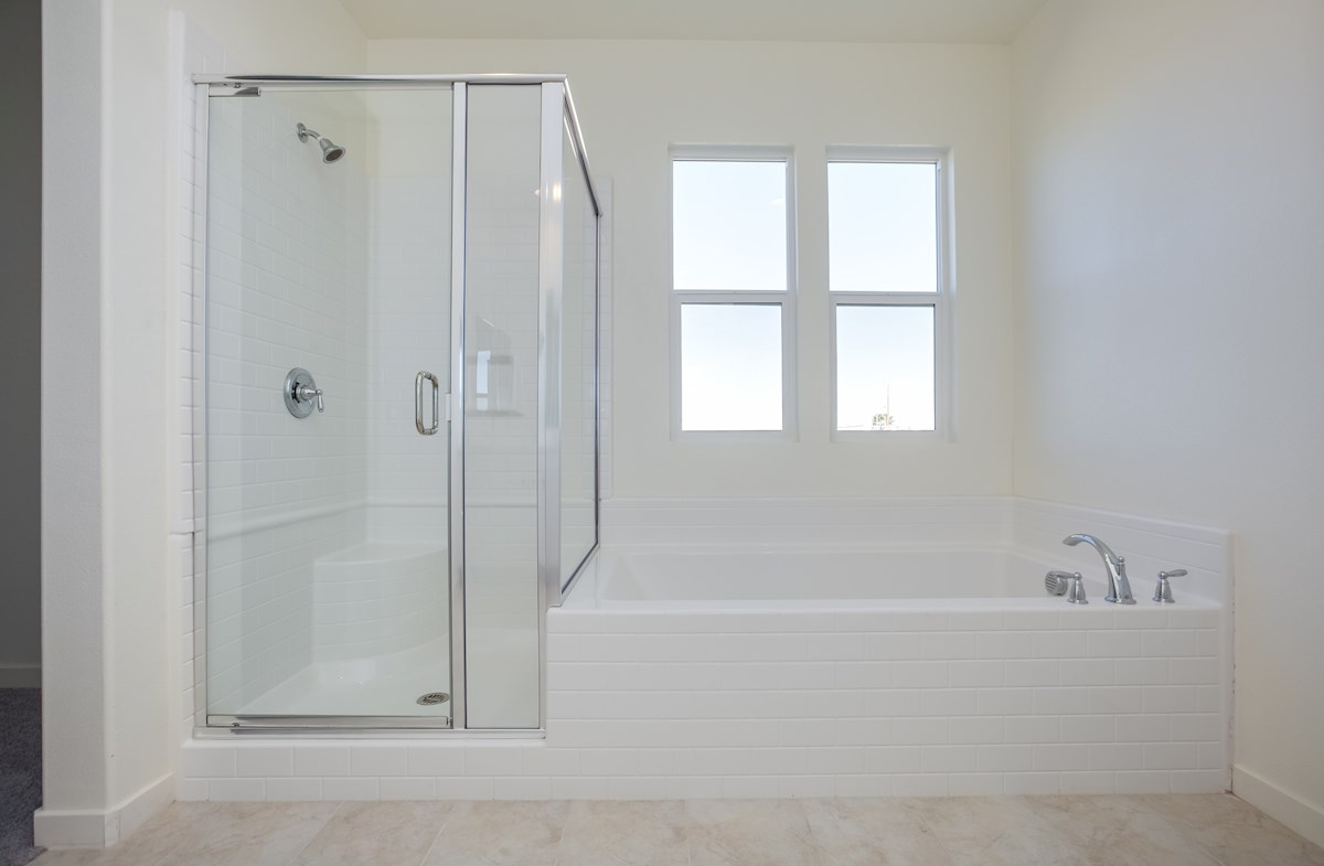Daisy quick move-in shower and soaking tub in master bath