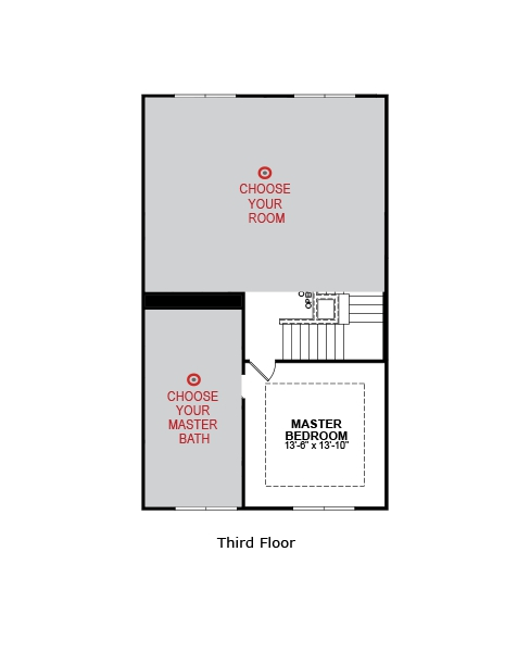 Main floor plan for Second Level