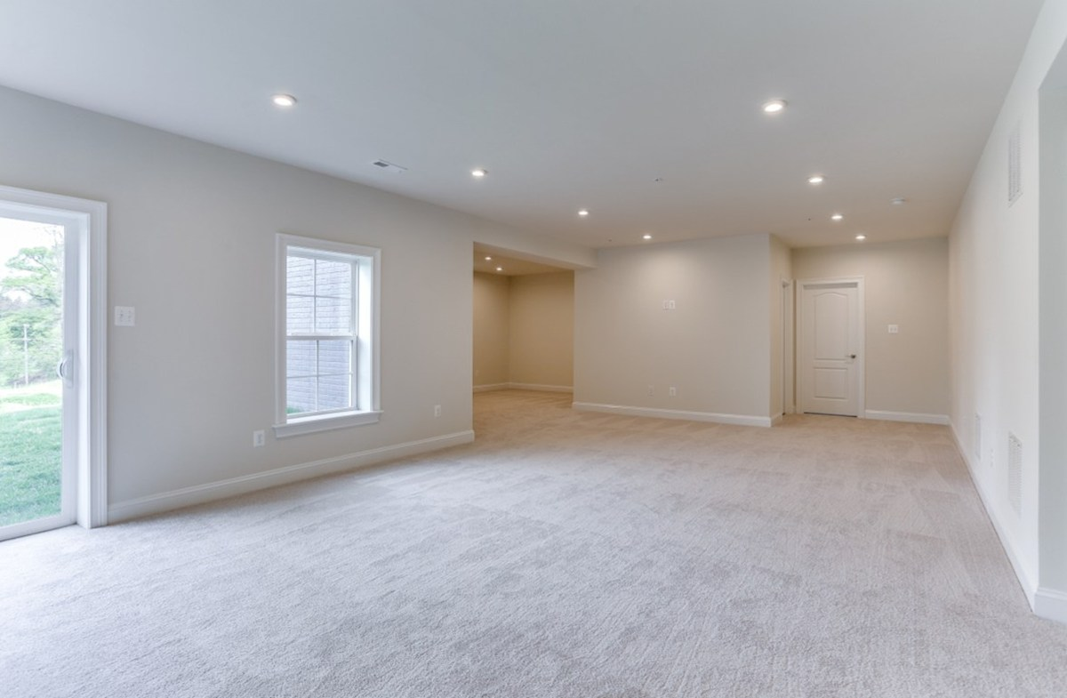 Brookview quick move-in Brookview basement with sliding glass door entry/exit